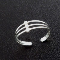 silver wire toe ring