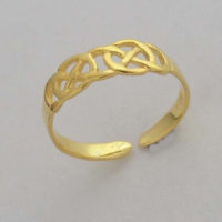 gold plated celtic toe ring