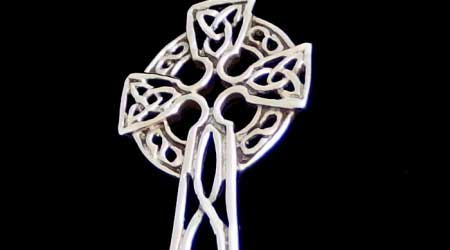 Silver Celtic cross now half price