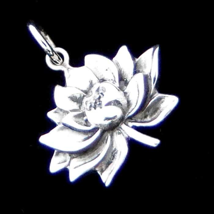 Silver Lotus Flower Pendant Silver Surfers