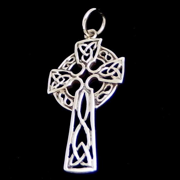 Triskele celtic cross pendant silver surfers aloadofball Image collections