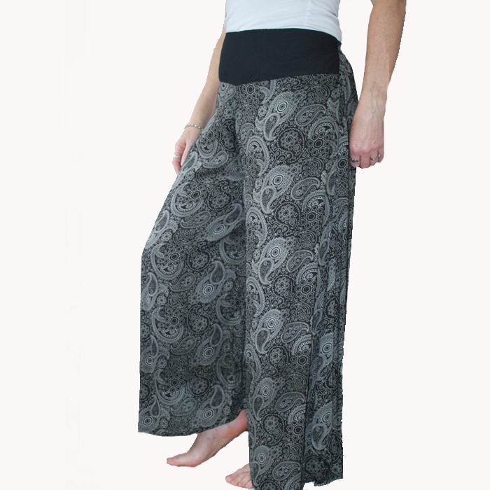 Thai Pant Skirt Combo Hippie Summer Pants Silver Surfers