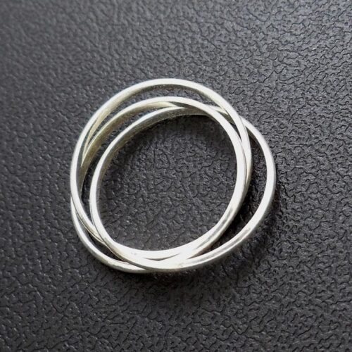 Classic Russian Wedding Ring Silver Surfers