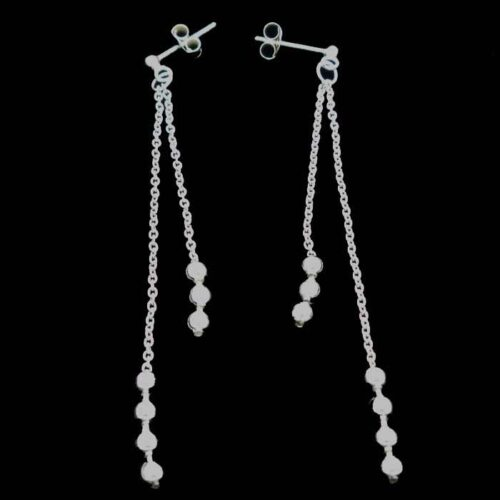 Ball Chain Earring Sterling Silver 17 00